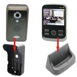 Фото видеотрубки беспроводного домофона с аккумулятором, integrator-ua.com