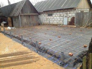 Фото закладки фундамента под гараж с мансардой, drive2.ru