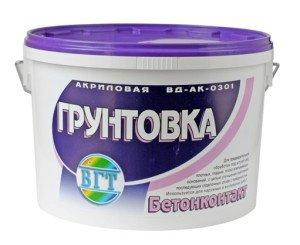На фото - грунтовка по бетону, igips.ru