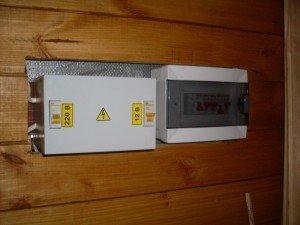 Электропроводка в бане и монтаж внутреннего щитка