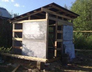 Фото деревянного каркаса для крепления плоского шифера, strgid.ru