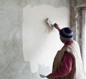 На фото - шпаклевка бетонной стены, ukuzi.ru