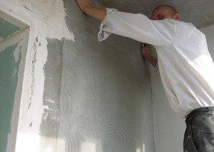 Фото армирующей сетки для шпаклевки стен, remontmaker.ru