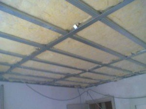 Фото каркаса для утепления потолка минеральной ватой, budmagazin.com.ua