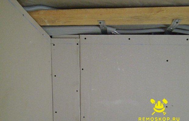 Разметка плоскости потолка