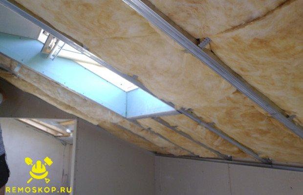 Правильно утепленный потолок