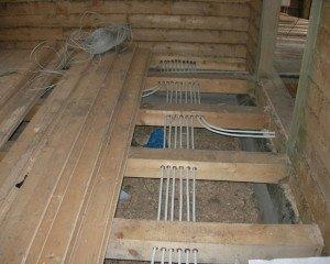 Фото скрытой разводки электрических кабелей, domvderevne.ru