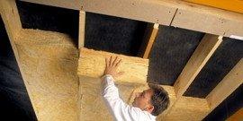 Утепление потолка минватой – как это делается