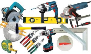 На фото - инструменты для монтажа наружных откосов из металла, jp-fasad.ru