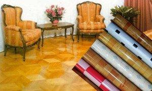 На фото - нитроцеллюлозный линолеум под теплый пол, srbu.ru