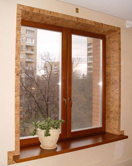 отделка откосов окна внутри дома