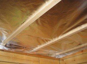 Фото термоизоляции потолка деревянного дома, pod-potol.com
