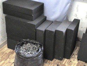 Фото блоков ячеистого стекла, newhomestroy.ru