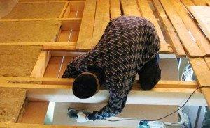 Утепление потолка в деревянном доме – подготовительные работы фото
