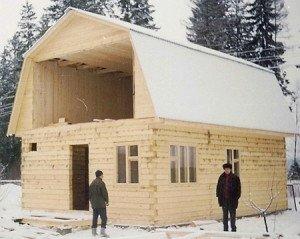 На фото - строительство мансарды из бруса, e-brus.ru