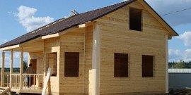 Фото брусовых домов с мансардой