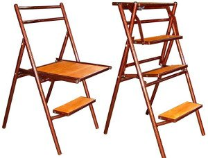 Универсальный предмет интерьера – стул-стремянка типа трансформер
