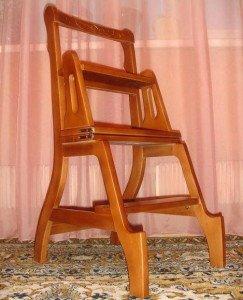 Универсальный предмет интерьера – стул-стремянка типа трансформер фото