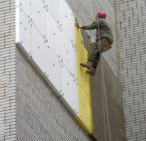 Фото оштукатуривания пенополистирола, nashaotdelka.ru
