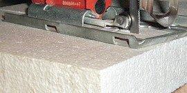 Резка пенопласта в домашних условиях – нож или самодельный станок?