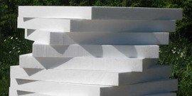 Пенопласт – размеры плит и варианты использования
