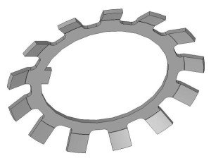 На фото - многолапчатая шайба DIN 5406, commons.wikimedia.org