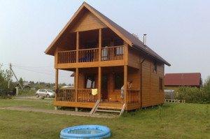 Фото двухэтажного каркасного дома, belinastroy.ru