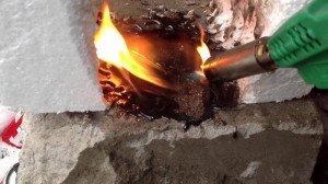 Фото горения плотного пенопласта, youtube.com