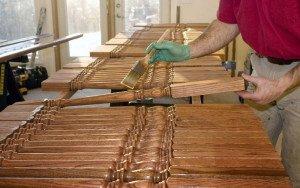 Фото декоративного покрытия древесины олифой, sawwood.ru