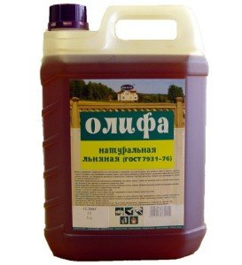 Фото натуральной льняной олифы, vsyaizolyatsiya.ru