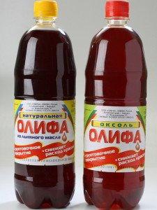 Фото натуральной и полунатуральной олифы, nashaotdelka.ru
