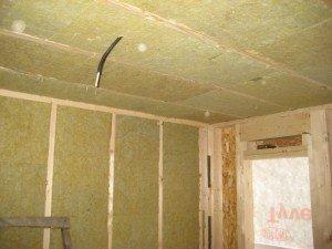 Фото утепления потолка в сарае, karkas.pro