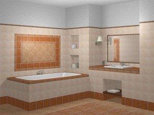 Фото отделки ванной комнаты керамической плиткой, otdelka-expert.ru