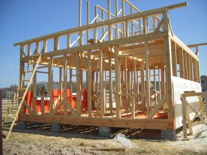 Фото  возведения каркасного дома, karkas-plus.com