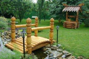 Фото декоративного мостика для украшения сада, woodbros.ru