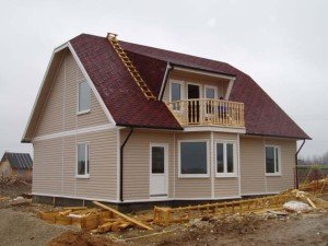На фото - каркасный дом по канадской технологии, project-home.ru