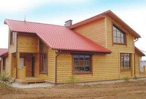 Фото отделки каркасного дома деревянным блок-хаусом, lescon.su