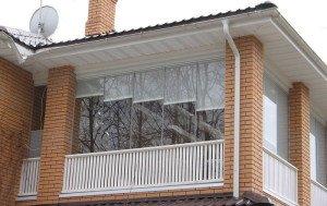 Фото жалюзей для лоджии с безрамным остеклением, br02.ru