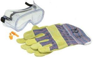 Фото защитных перчаток и очков, homester.com.ua