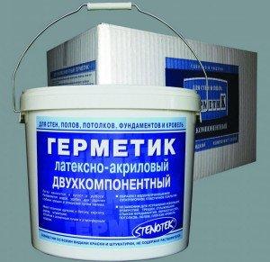 Фото акрилового состава для герметизации бетона, stenotek.ru
