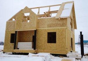 На фото - канадский способ строительства загородного дома, sip-panelis.ru