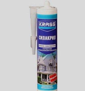 На фото - силикон-акриловый герметик, kraski33.ru
