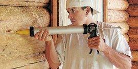 Акриловый герметик по дереву – берем на вооружение