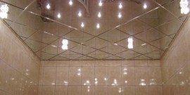 Зеркальный потолок в ванной – тонкости монтажа