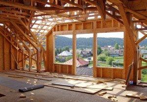 Фото каркасного строительства дома, etotdom.com