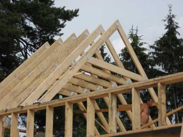 Каркасная крыша своими руками