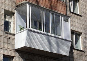 На фото - балкон с выносом, balpro.com.ua