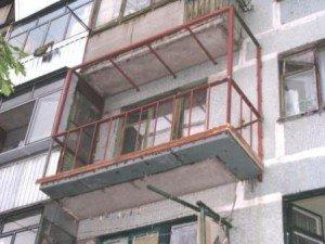 Фото конструкции балкона с выносом, nadokna.zp.ua