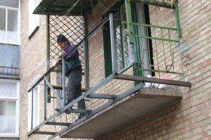 Фото сварки балкона с выносом, kakpravilnosdelat.ru
