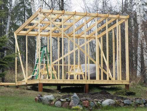 Видео как построить крышу сарая своими руками